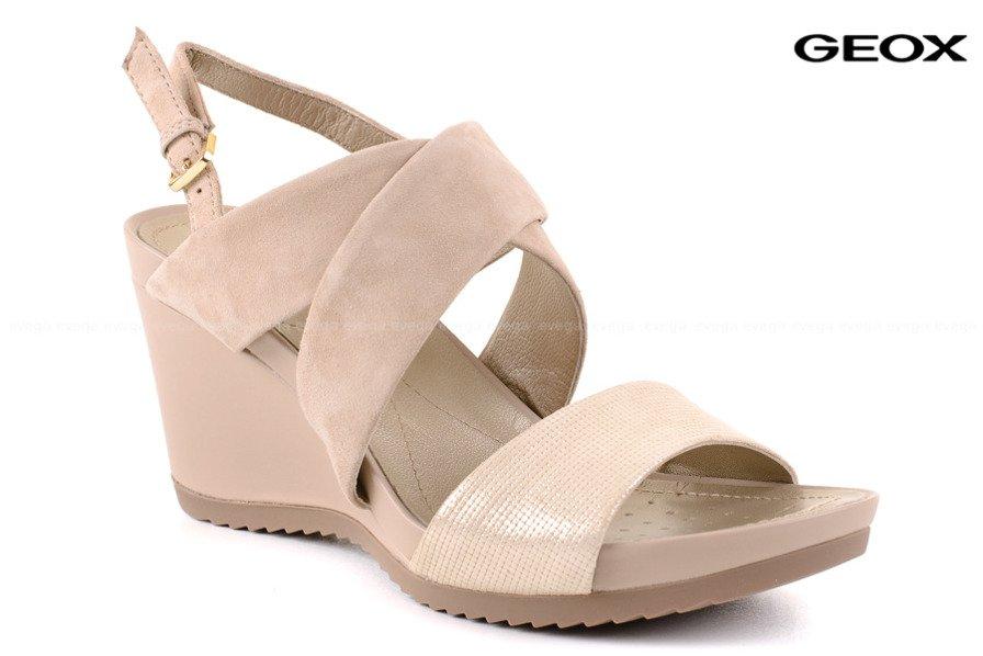 geox sandały damskie na koturnie